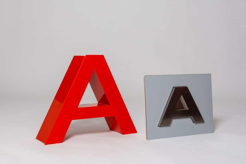 rotulos letras corporeas carteles sstandem madrid metal