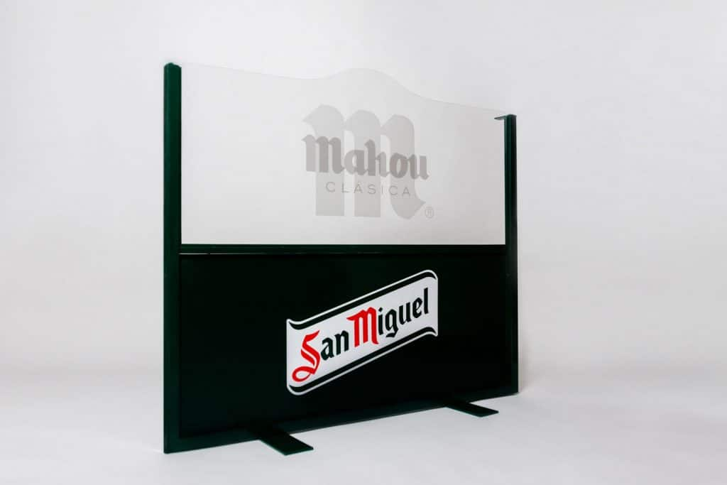 mamparas personalizadas carteles sstandem madrid metal